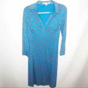 Diane Von Furstenberg 100% silk dress sz 12